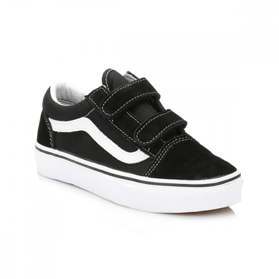 Vans Kids Black/White Old Skool Trainers productafbeelding