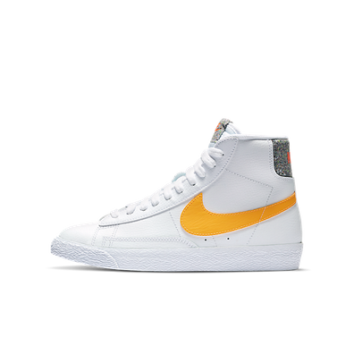Nike Blazer Mid Grind White University Gold (GS) productafbeelding