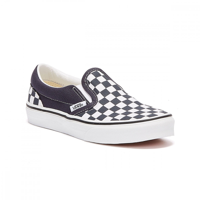 Vans Classic Slip-On Checkerboard Youth Black / White Trainers productafbeelding