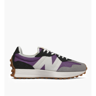 New Balance 327 Midnight Magenta with Varsity Gold productafbeelding
