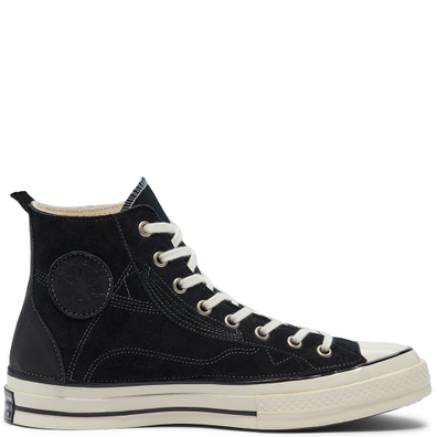 Unisex Leather Patchwork Chuck 70 High Top productafbeelding