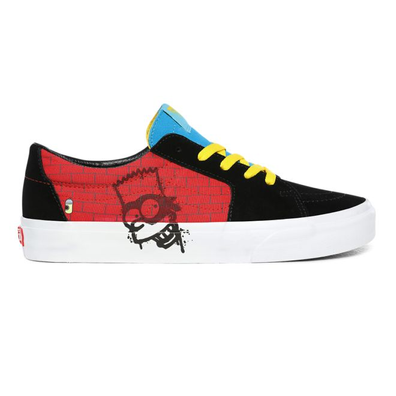 Vans x The Simpsons Old Skool El Barto Mens Black / Red Trainers productafbeelding