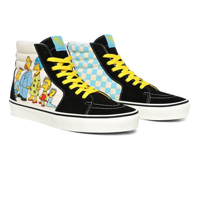 Vans x The Simpsons Sk8-Hi 1987-2020 Black / White Trainers productafbeelding