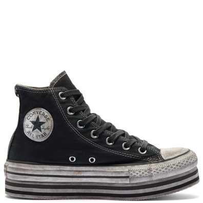 Smoke In Platform Chuck Taylor All Star High Top productafbeelding