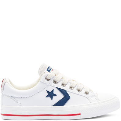 Leather Star Player Low Top voor kids productafbeelding