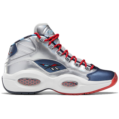 Reebok Question Mid Iverson x Harden Silver productafbeelding