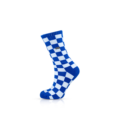 Vans Checkerboard Crew Socks Victoria Blue/White productafbeelding