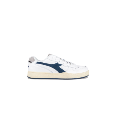 Diadora MI Basket Low Used Blue Dark Denim productafbeelding