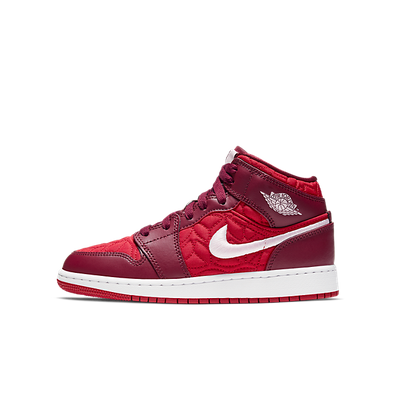 Jordan 1 Mid SE GS 'Red Quilt' productafbeelding