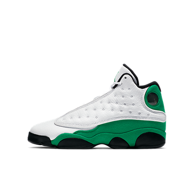 Jordan 13 Retro White Lucky Green (GS) productafbeelding