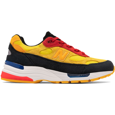 New Balance 992 Yellow Red productafbeelding
