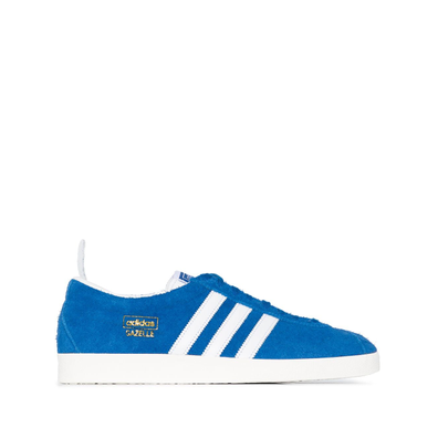 adidas Blue and White Gazelle Vintage productafbeelding