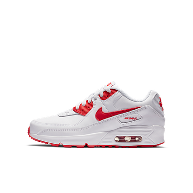 Nike Air Max 90 Recraft White Red (GS) productafbeelding