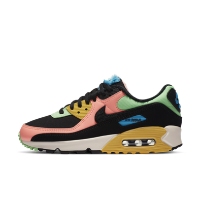 Nike Air Max 90 Fur 'Green/Pink' productafbeelding