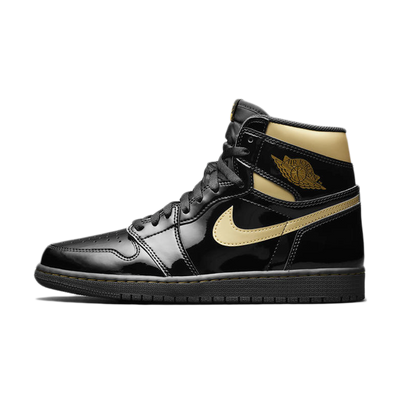 Air Jordan 1 High OG Patent 'Black Gold' productafbeelding
