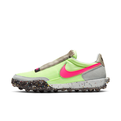 Nike Waffle Racer Crater 'Barely Volt/Pink Blast' productafbeelding