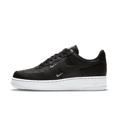 Nike Air Force 1 Swooshes 'Black' productafbeelding