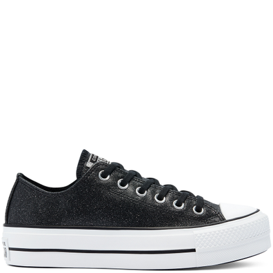 Glitter Shine Platform Chuck Taylor All Star Low Top voor dames productafbeelding