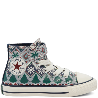 Holiday Sweater Easy-On Chuck Taylor All Star High Top voor peuters productafbeelding