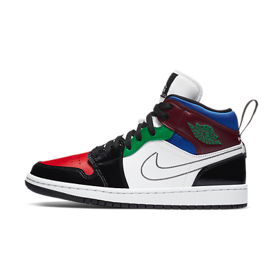 Jordan 1 Mid SE Black White Multi-Color (W) productafbeelding