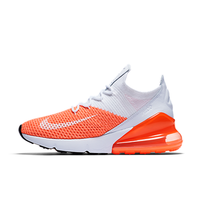 Nike WMNS Air Max 270 Flyknit 'White/Orange' productafbeelding