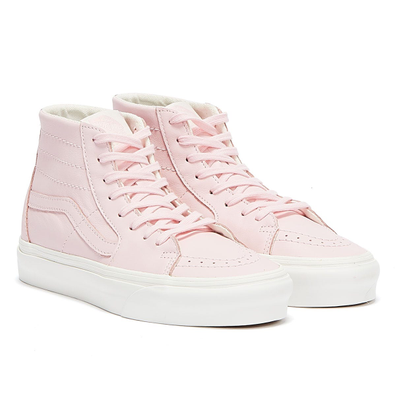 Vans Sk8-Hi Tapered Soft Leather Womens Pink / White Trainers productafbeelding