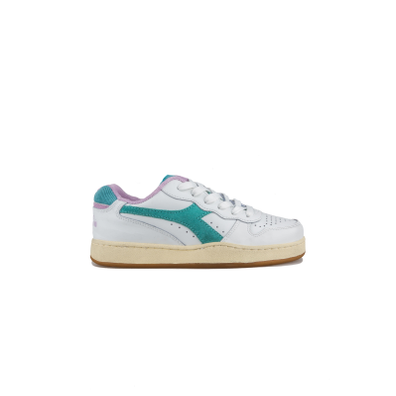 Diadora Basket Low Used WN Turquoise productafbeelding