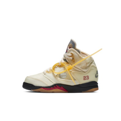 Off-White X Air Jordan 5 PS 'Sail' productafbeelding