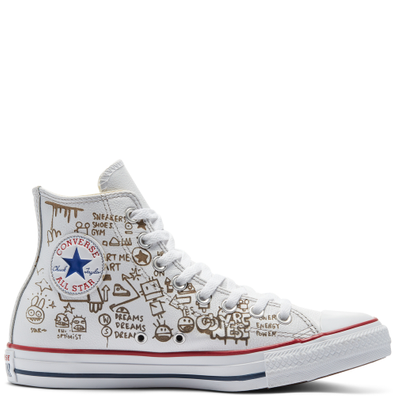 Distressed Graffiti Chuck Taylor All Star High Top productafbeelding