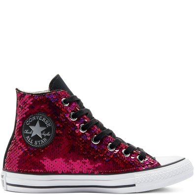 Purple & Silver Sequins Chuck Taylor All Star High Top productafbeelding