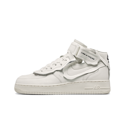 Comme Des Garçons X Nike Air Force 1 Mid 'White' productafbeelding