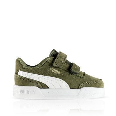 Puma Caracal Suede Dark Green White PS productafbeelding