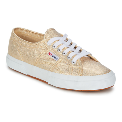 Superga  2751 LAMEW  women's Shoes (Trainers) in Gold productafbeelding
