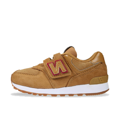 New Balance 574  PRB Brown/Red PS productafbeelding