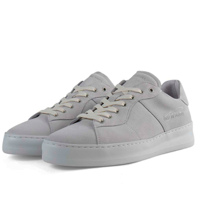 Low Plain Court Suede 'White' productafbeelding