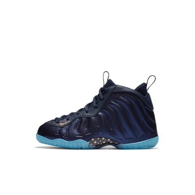 Nike Air Foamposite One Obsidian Metallic Gold (PS) productafbeelding
