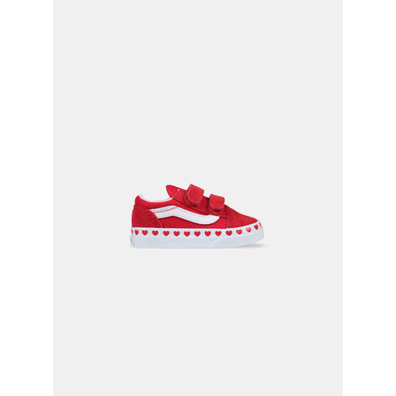 Vans Old Skool V Hearts Red True White TD productafbeelding