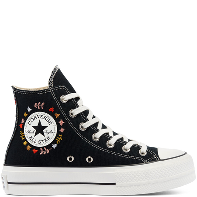 It's Okay To Wander Platform Chuck Taylor All Star High Top productafbeelding