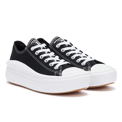 Converse Move Platform Ox Womens Black / White Trainers productafbeelding