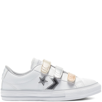 Metallic Leather Easy-On Star Player Low Top productafbeelding
