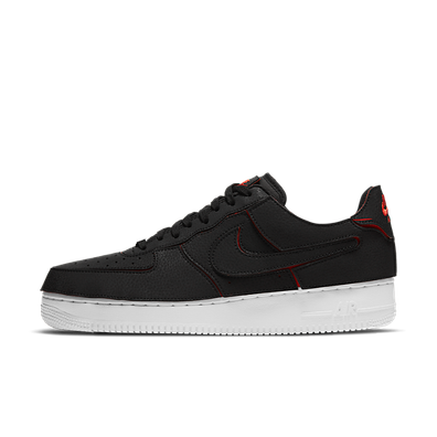 Nike Air Force 1 Low 1/1 Black Chile Red productafbeelding