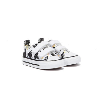 Converse All Star Jungle Fun Infant White / Black Trainers productafbeelding