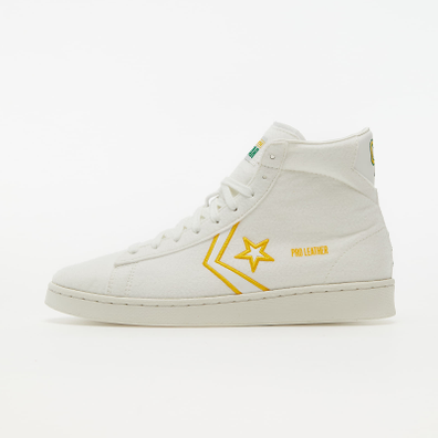 Converse Pro Leather Vintage White/ Green/ Amarillo productafbeelding