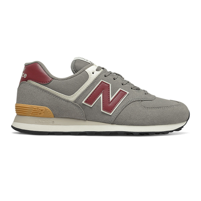 New Balance 574 - Marblehead with Light Burgundy productafbeelding