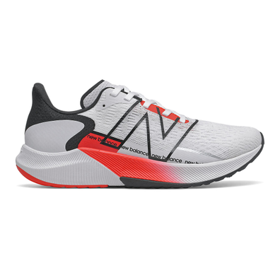 New Balance FuelCell Propel v2 - White with Neo Flame productafbeelding