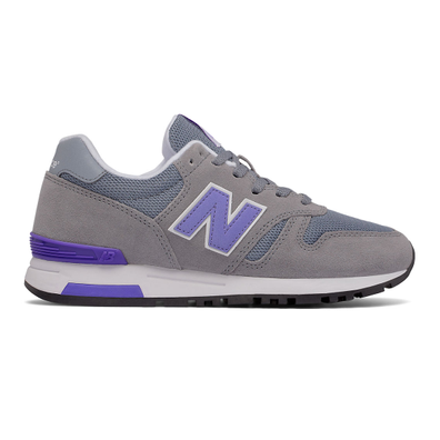 565 New Balance - Grey with Lilac & White productafbeelding
