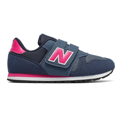 New Balance 373 Hook and Loop - Stone Blue with Exuberant Pink productafbeelding
