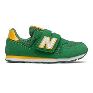 New Balance 373 Hook & Loop - Varsity Green with Team Gold productafbeelding