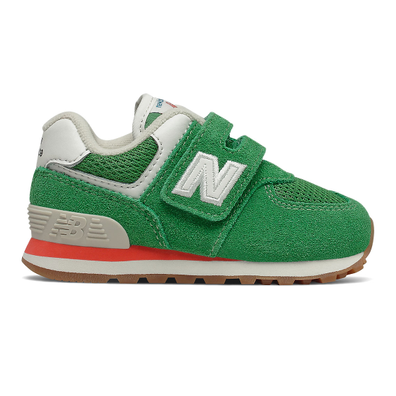 New Balance 574 - Varsity Green with Ghost Pepper productafbeelding