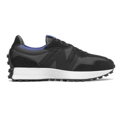 New Balance 327 - Black with Magnetic Blue productafbeelding